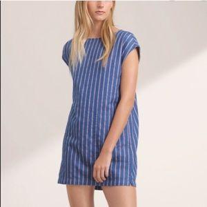 Wilfred Free Nori Striped Denim Dress